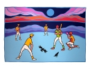 Ted Harrison Art - Ball Game