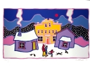 Ted Harrison Art in Vancouver - Snowfall