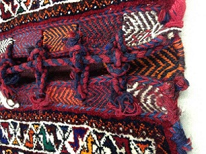 0f5c4c42a0 A hand-made backing mat and custom frame to mount this enormous Turkish  camel bag.
