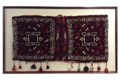 Framed Turkish camel bags.