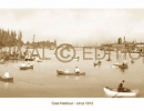 Coal Harbour 1913 sepia panorama Vancouver photo