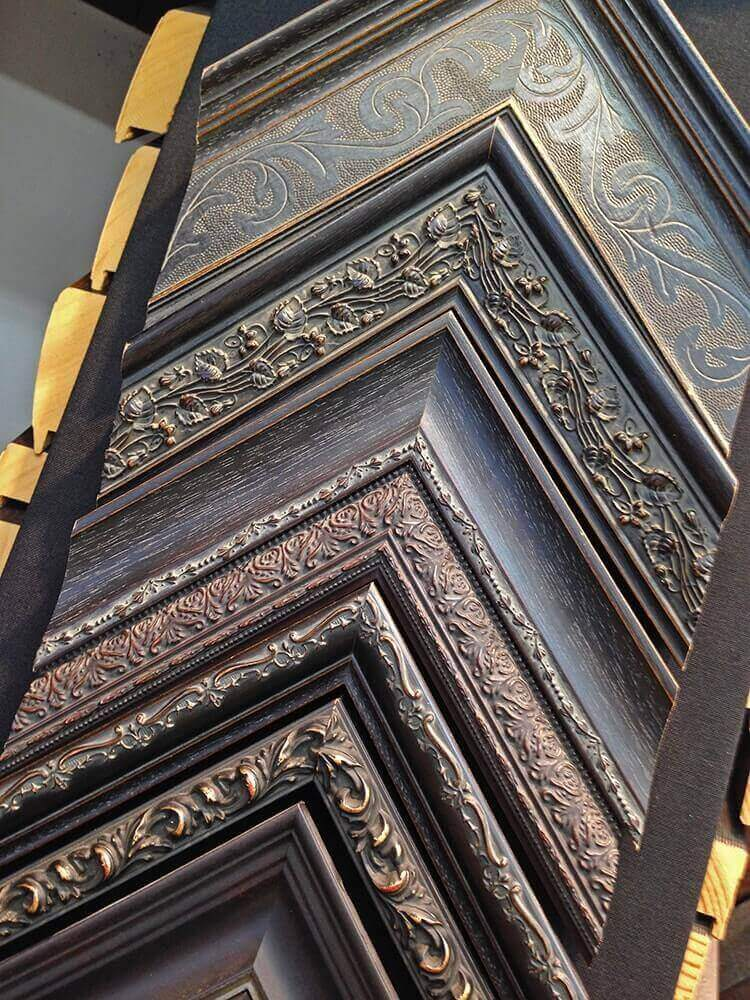 Picture Frame Mouldings -Traditional brown and black ornate frames