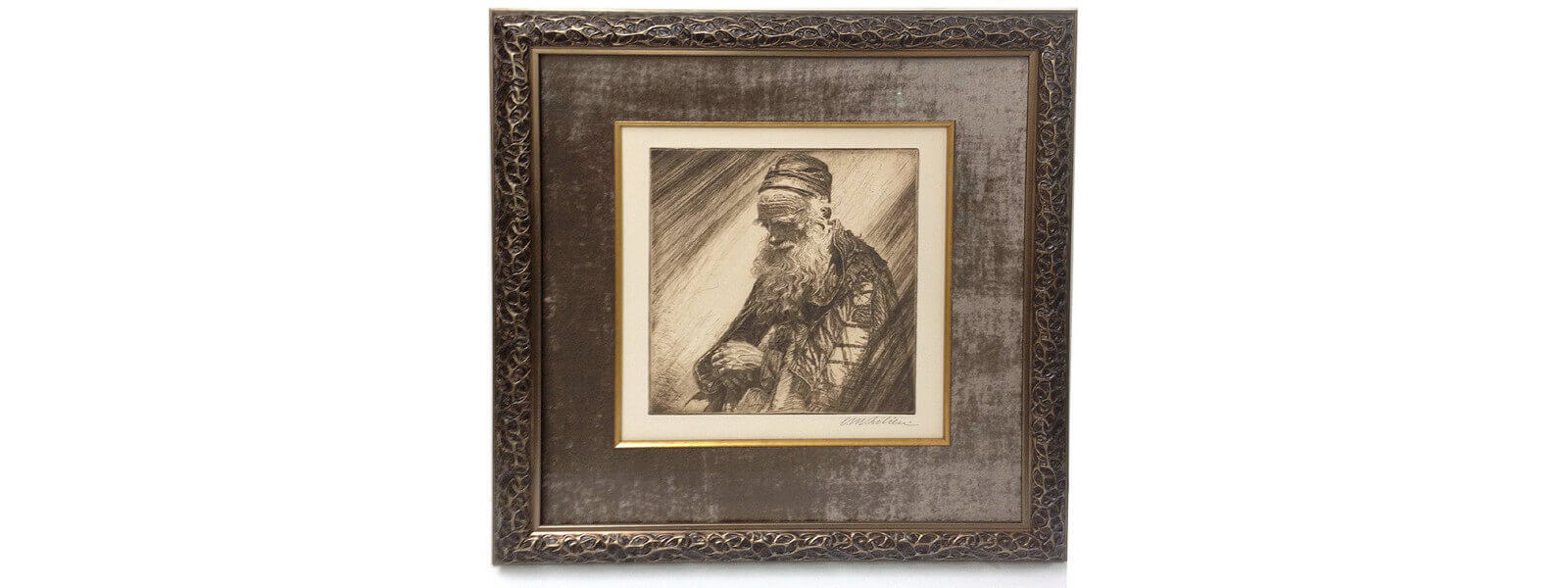 HS-old-jewish-etching-framed-picture