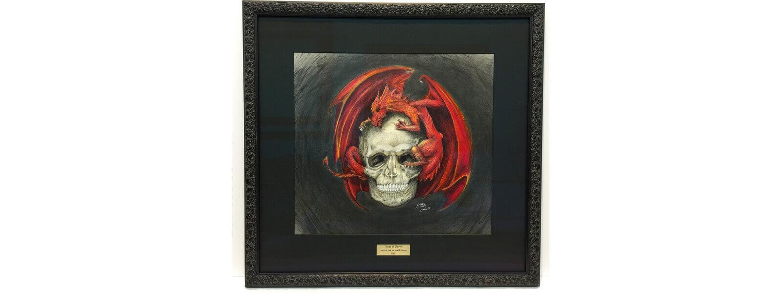 HS-skull-dragon-art-framed