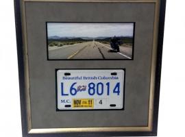 License Plate Framed